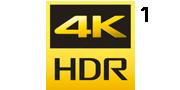4K HDR logotip
