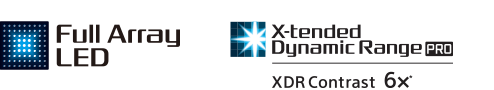 Logotipi za Full Array LED i X-tended Dynamic Range